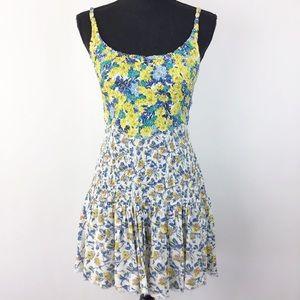Free People Yellow Floral Sun Dress XS (1259)
